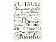 XXL ZUHAUSE Liebe Vintage Shabby Schild Wandschild von Interluxe via dawanda.com