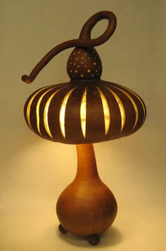 gourd lamp - looks sort of like a mushroom :-)