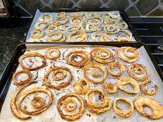 Gourmet Girl Cooks: Pan Seared Wild Pacific Halibut & Oven Fried Vidalia Onion Rings