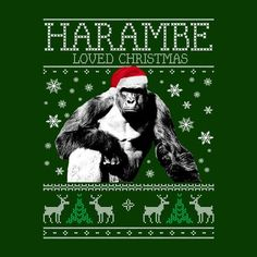 Harambe Loved Christmas Knit