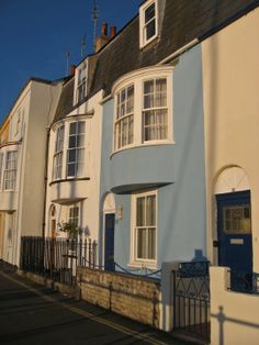 Bow fronted houses Weymouth.