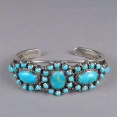 Vintage Zuni inlay bracelet c. 1950's