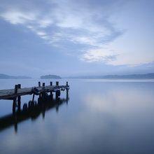 Fototapet - Wooden Pier in Still Lake