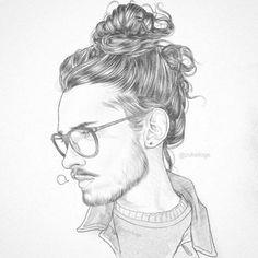 Sunday Man bun quick sketch. Mind games.mp3 #drawing #draw #sketch #sketching #hairbun #manbun #bun #longhair #beard #glasses #nerd #geek #pencil #lapiz #sunday #domingo #art #arte #graphic #creative #design #illustration #style #fashion #blogger #gdl