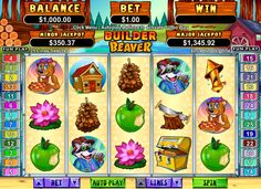 Builder Beaver #slots have 5-reels and 25-paylines, and are Real Series slots with two random #jackpots, double and triple-payout free game features, wilds, paying scatters, and a 10,000-coin jackpot!  http://www.gamesandcasino.com/slots/builder-beaver-slots.htm