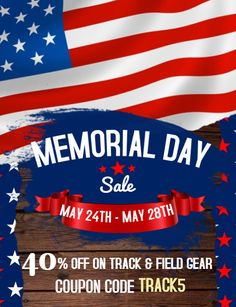 ️Memorial Day Sale starts now!!! Get 40% off on all Track and field gear 👉