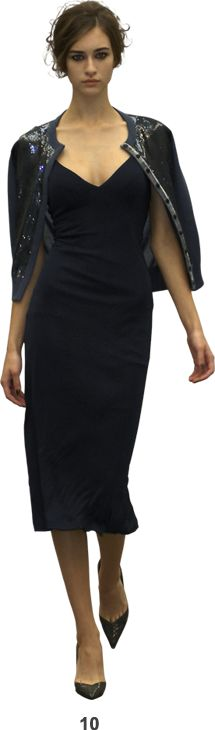 navy dress with cardigan, L'wren Scott