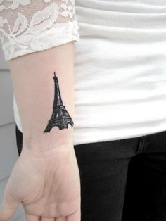 One of my next tattoos...for you Cora....Eiffel Tower Paris Tattoo