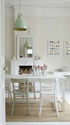 Keep it cozy and casual by painting one dining chair a different colour.