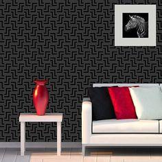 Zulu Allover Stencil  See more Geometric/Allover Stencils: http://www.cuttingedgestencils.com/wall-stencils-geometric-stencils.html  #geometric #allover #stencils