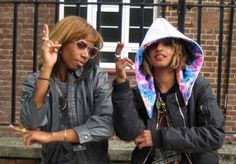 m.i.a. and santigold. straight ballers.