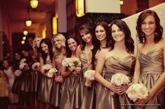 I want champagne bridesmaid dresses because Im really set on a fall wedding