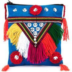 ShopStyle: Petite Besace Navajo Bleue
