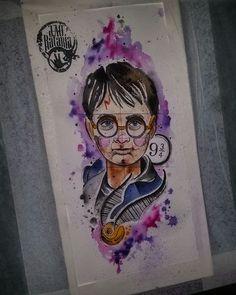 Harry potter, harry, aquarela, pomo de ouro, watercolor, desenho, drawing