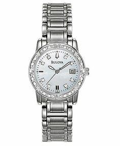 Bulova Watch, Women's Stainless Steel Bracelet 26mm 96R105 - Women's Watches - Jewelry & Watches - Macy's