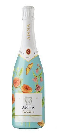 Cava Anna de Codorníu - botella 'Díselo con flores' personalizable. Amigos de las bodegas. #taninotanino