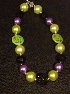RTS+chunky+Halloween+bubblegum+necklace+by+PsCreation+on+Etsy,+$16.00
