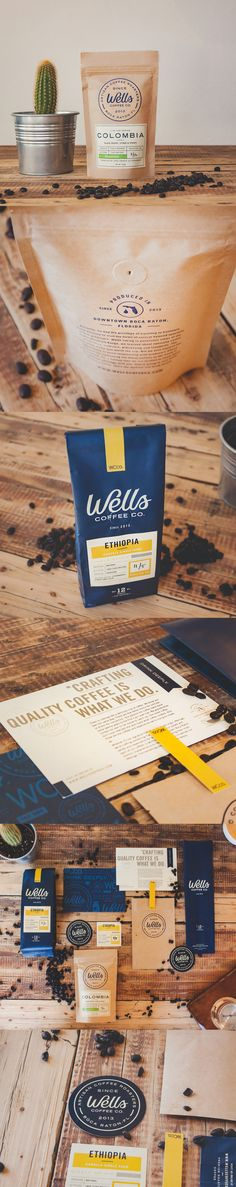Wells Coffee Packaging by Steve Wolf