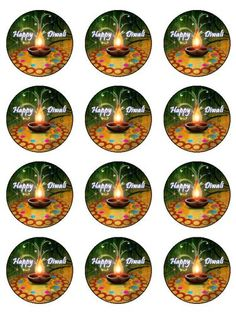 Other Cake Decorations & Cake Toppers Paper Cupcake, Rice Paper, Egg Free, Diwali, Cupcake Toppers, Festivals, Cake Decorating, Christmas Bulbs, Projects To Try