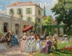 Henri Victor Lesur . Garden party