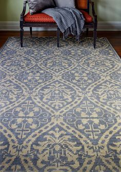Artifact Hand-Knotted Azure Area Rug