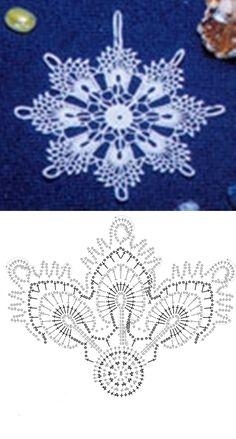 Login - Her Crochet Crochet Snowflake Pattern, Crochet Stars, Crochet Snowflakes, Thread Crochet, Crochet Motif, Crochet Diagram, Irish Crochet, Crochet Crafts, Crochet Doilies