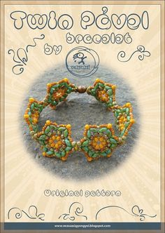 Bracelet tutorial / pattern Twin Pavel with twin beads ..PDF instruction for personal use only