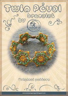 Bracelet tutorial / pattern Twin Pavel by beadsbyvezsuzsi must try! @ecrafty #ecrafty #diybracelets #braceletsupplies