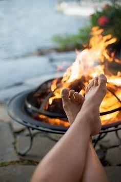 Love fire pits! Wish we had one.