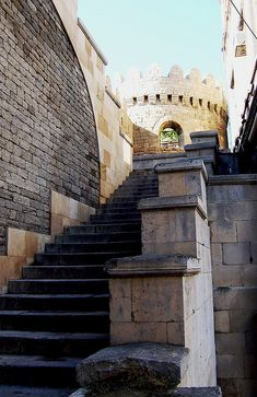Entry to the Old City, Baku, Azerbaijan by David, via Flickr.  Old City or Inner City is the historical core of Baku.  It is widely accepted that the Old City, including its Maiden Tower, date at least to the 12th century, with some researchers contending that construction dates as far back as the 7th century. (V)