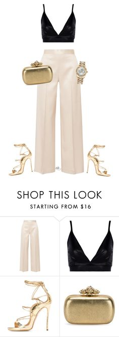 """Untitled #1112"" by elli-skouf ❤ liked on Polyvore featuring The Row, Boohoo, Alexander McQueen and Rolex"