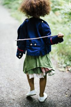 I wish I knew who made this jacket.  today… down in the woods © quirky collective