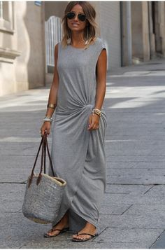 love this grey dress and bag