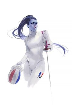 I miss fencing, and I miss playing Overwatch. Made her a lefty, just because I am one lol. Overwatch Widowmaker, Overwatch Memes, Overwatch Fan Art, Overwatch Comic, Game Character, Character Design, Martial, Overwatch Drawings, Overwatch Wallpapers