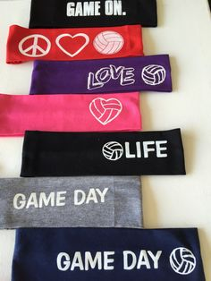 Volleyball girls love headbands. We sell so many of these its crazy. We have something for everyone all with cute sayings. Great for the whole team, or just to stand out. Bright colors, school colors. Whats your favorite! Made out of cotton.