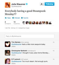 Julie Klausner is a little confused about what day it is