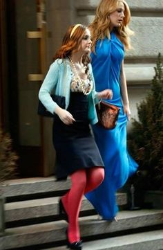 "Blair Waldorf wore this Diane von Furstenberg ""Sophia Loren"" Dress in an episode of Gossip Girl Season (Photo Blair Waldorf Outfits, Blair Waldorf Style, Gossip Girl Outfits, Gossip Girl Fashion, Serena Van Der Woodsen, Leighton Meester, Moda Gossip Girl, Gossip Girls, Gossip Girl Season 2"