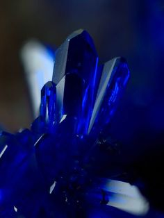 Blue Aesthetic Discover Azurite - opens third eye and crown Minerals And Gemstones, Crystals Minerals, Rocks And Minerals, Blue Crystals, Stones And Crystals, Blue Aesthetic Dark, Crystal Aesthetic, Aesthetic Colors, Dark Blue Wallpaper