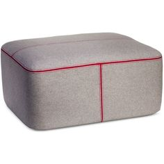 Rectangle Pouf Gray/Pink ($85) via Polyvore featuring home, furniture, ottomans, grey, colored furniture, grey footstool, pink furniture, pink ottoman and rectangular ottoman