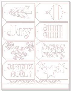 Free Christmas Tag cutting files