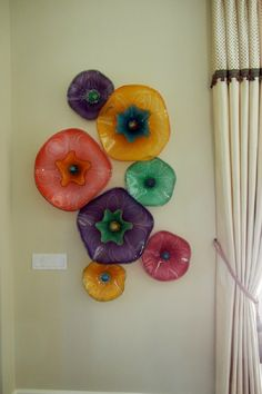 i think i could do something like this fused glass wall art