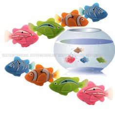 8Pcs Robo Fish Battery Powered Robofish Clownfish Electric Gift Children Kid Toy - http://hobbies-toys.goshoppins.com/electronic-battery-wind-up-toys/8pcs-robo-fish-battery-powered-robofish-clownfish-electric-gift-children-kid-toy/