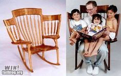 Coolest story time rocking chair EVER! story time rocking chair by Hal Taylor Sam Maloof, Cool Inventions, Story Time, Grandchildren, Grandkids, Hygge, Furniture Design, Chair Design, Furniture Ideas