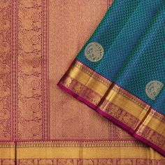 Kanakavalli Kanjivaram Silk Sari 110-01-65460 - Cover View Kanakavalli Sarees, Indian Sarees, Silk Sarees, Blue Shots, Elephant Pattern, Elegant Saree, Hand Weaving, Paisley, Reusable Tote Bags