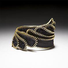 """Zipper Bracelet, """"Wing"""""""