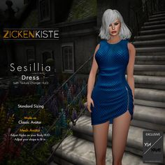 Zickenkiste – Sesillia Dress is a new release and exclusive for the SCALA™ The Yin/Yang Event september round. It is on Standard Sizing but it works well with the mesh Bodies. Available in 2 …