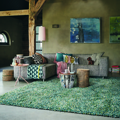 Hard wearing and easy to clean, #Rocks from #BrinkandCampman represent the top end of shaggy pile #rugs. #carpets