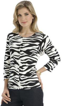 Zebra Print Cardigan  $39.95 - $44.95