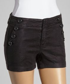 Another great find on #zulily! Black Marina Linen-Blend Sailor Shorts by Level 99 #zulilyfinds