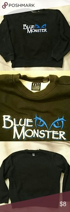 💙💙Kate Lord Blue Monster Sweatshirt 💙💙 This Sweatshirt is in really good condition. It's soft to the touch and will be a great layer for those chilly days.  Size Medium 73% Cotton 27% Polyester  Machine wash. Flat Dry. Kate & Lord Shirts & Tops Sweatshirts & Hoodies